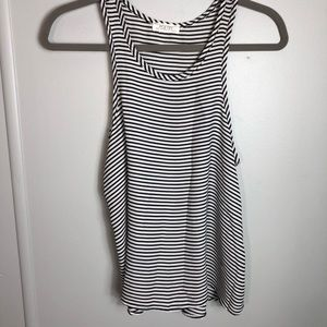 Poetry Black and White Striped Sheer Tank